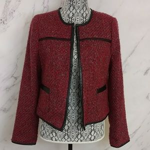 The Limited Red Tweed Jacket